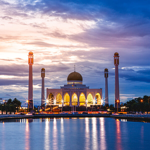 Thailand beautiful landscape Photography - Services - Songkhla Central Mosque at Sunset
